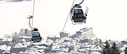 The CityXpress cable car brings you up into the skiarea of the Schmittenhöhe.