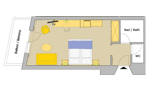 Foundation Dezin & Decor...: Layout of hotel rooms -2 |Suite Room Layout