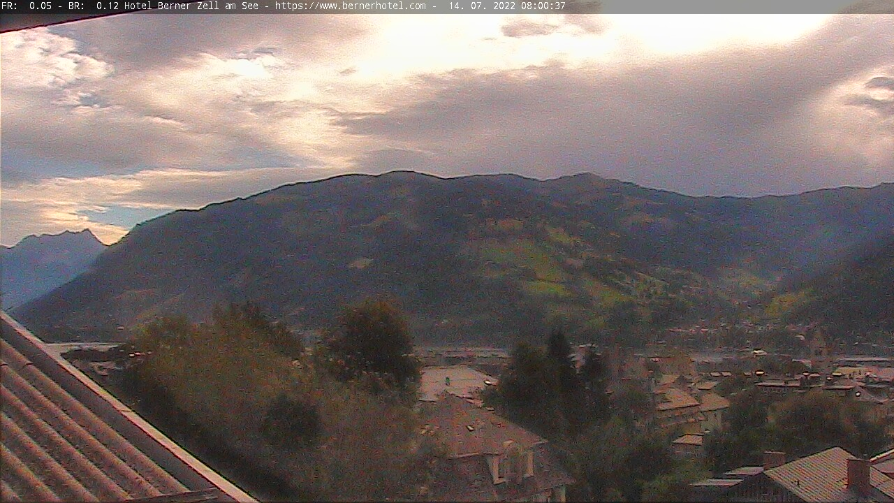 Webcam Blik vanuit Hotel Berner - Zell am See