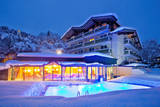 New Spa & Wellness area of the Hotel Berner in Zell am See next to the ski slope.
