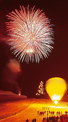 New Year in Zell am See - New Year with fireworks in Zell am See ...