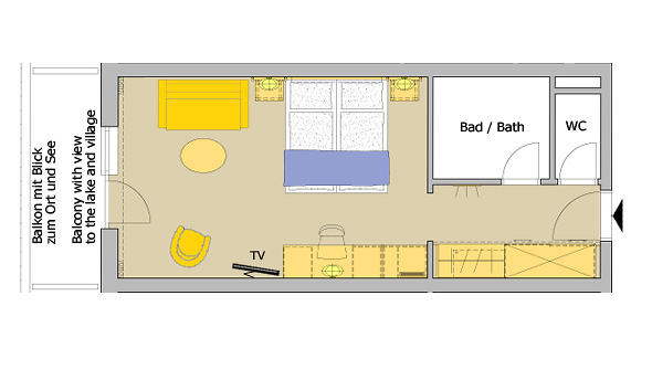 junior suite see blick im hotel berner in zell am see hotel berner. Black Bedroom Furniture Sets. Home Design Ideas